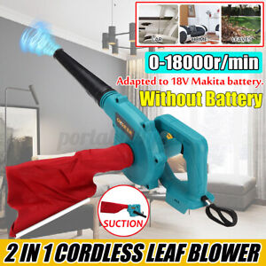 Electric Cordless Air Leaf Blower Blowing Vaccuum Duster For Makita 18V Battery