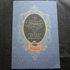 CGT FRENCH LINE SS FRANCE (1912)  Photo Brochure