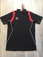 mens black red WARRIOR sports gym fitness training  polo shirt Size Medium NEW
