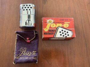 Vintage great cond. jon-e giant size hand warmer original box   Minn .