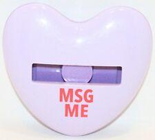 Msg Me Post It Heart Shape Imprint 3m Dispenser Holder For 3x3 Note Pads Hd330