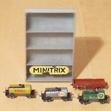 Minitrix Antik - Kesselwagen Esso BP Shell Niederbordwagen / selten Sammler rar