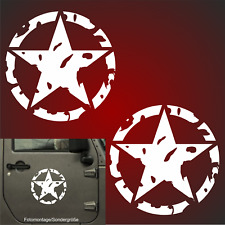 2x 20cm US Army Oldschool Hotrod US Aufkleber Auto Sticker  Retro Sterne Türen F