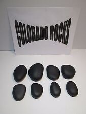 New Black Basalt Hot Massage Stones, Small 2-3 Inch Stones-8 PC Set