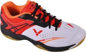 *NEW* Victor Indoor Court A501 Shoes for Badminton, Squash White/Red >REDUCED<