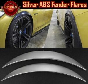 "1 Pair Glossy Silver 1"" Diffuser Wide Fender Flares Extension For Mercedes Benz"