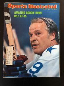 March 11 1974 Sports Illustrated Gordie Howe Houston Aero WHA Hockey