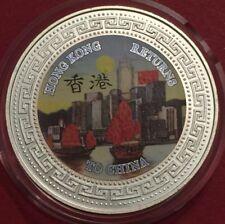 1997 Hong Kong Plata Prueba $1 un dólar moneda de comercio regresa a China UNC