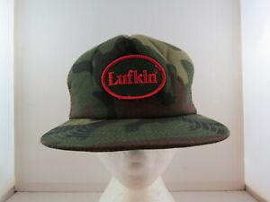 Vintage Trucker Hat - Lufkin Tools - Camouflage Crested  Front - Adult Snapback