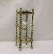 Home Interior Homco(Twisted Brass Capelo) Glass Cup /Picture Accent