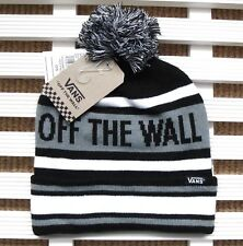 45a37941b2 VANS Black BOBBLE BEANIE HAT Toque Pompom Skateboarding CUFF UP   SLOUCHY  V20