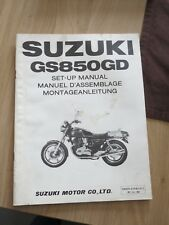 Original factory Set-up Manual Suzuki GS850GD  DEC 1982