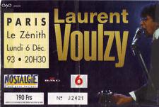 ticket billet stub used place concert LAURENT VOULZY 1995 PARIS