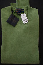 NWT Brooks Brothers Green Scottish Cashmere Crew Neck Sweater L MSRP $368