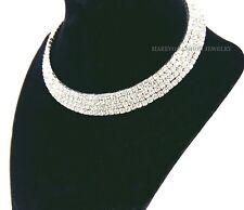 ELEGANT DIAMOND CHOKER SILVER RHINESTONE WRAP BEACH PARTY BRIDAL NECKLACE CH449S