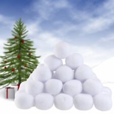 10pcs Indoor Snowball Fight Game Soft Plush Realistic Snow Balls