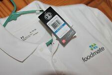 Under Armour UA Golf Polo Shirt LL Heat Gear Foodmate United Way Logos NEW Loose