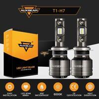 2X AUXBEAM H7 LED Headlight Bulb Conversion Kit High/Low Beam Fog Lamp 6500K 2x