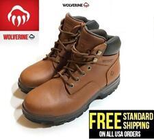 """Wolverine Men's 6"""" Steel Toe Waterproof Oil & Slip Resistant Work Boot - Brown"""