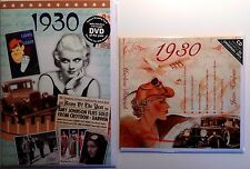 88th BIRTHDAY GIFT SET - 1930 DVD , CD and Year  Greeting Card