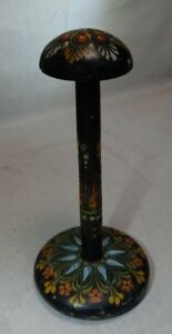 Vintage Hand Painted Wooden Hat Stand