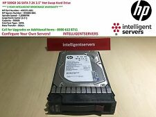 "HP 500 GB 3 G SATA 7.2K 3.5"" Hot-Swap Hard disk ** 493571-B21 **"