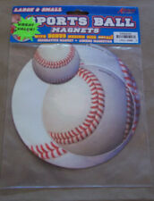 Sports Ball Baseball Magnets, Large & Small w/Bonus Med Size Decal,Birthday, New