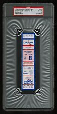 PSA 6 CALIFORNIA GOLDEN SEALS 1976 Unused NHL Hockey Ticket at Capital Centre