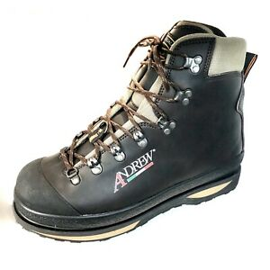 ANDREW Wading Boots Shoes FLY, Brown Leather, HAND MADE in ITALY. Not SIMMS :)