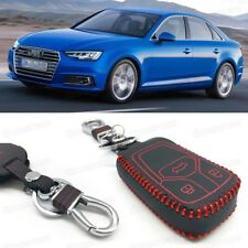 Leather Remote Car Key Cover Case Protector Holder Fob for Audi A4 2016-2017 18