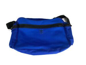 ADIDAS Royal Blue Messenger Bag Trefoil Logo Shoulder Strap