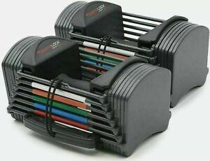 Powerblock Sport 24 Lbs Adjustable Dumbbells Weights PAIR - Set of 2 Home Gym