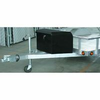 2-1/4 Cubic FT Steel Trailer Tongue Box Durable Sheet Steel Weatherproof Storage