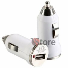 Caricabatterie Mini Per Auto Usb Bianco Per iPhone iPod 3G/3GS/4/4G/4S
