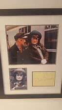 dick emery genuine hand signed 19x15inch proffesional framed display