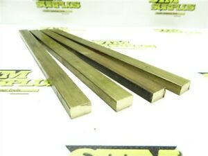 """2LB LOT OF 4PC SOLID BRASS BAR STOCK 3/8"""" X 5/8"""" X 10"""""""