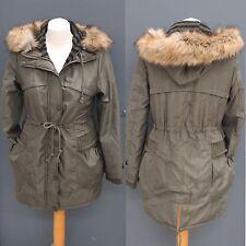 Tolle Damen Winter Kapuzenjacke Parker Parka Mantel Größe S M L XL