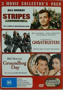 STRIPES, GHOSTBUSTERS, GROUNDHOG DAY DVD (PAL, 2006) FREE POST