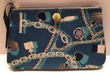 Estee Lauder Signature Cosmetic Bag Print Dark Green GWP  New