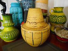 Retro fat lava 1960's vase, vintage U-Keramik West German Eames era pottery