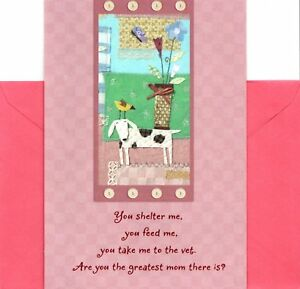 Happy Mother's Day Mother To Pet Pets Dogs Cats Animals Hallmark Greeting Card