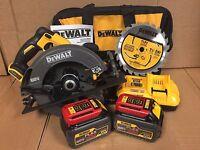 DeWalt DCS575T2 60V MAX FlexVolt Circular Saw w/ Brake 2 Batteries & Charger Kit