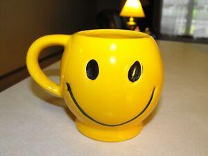 McCoy Smiley Face Mug Darker Yellow