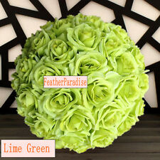 Green Rose Flower Ball Wedding decoratin Ball Kissing Ball 11-12 inches  USA