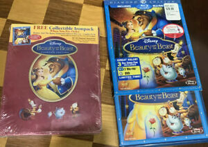 Disney LOT Beauty & The Beast Diamond Edition Collectors Steelbook Metal Case