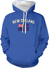New Zealand Country Flag Pride Rugby Football Soccer  2-tone Hoodie Pullover