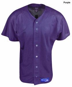 New Mizuno Boy's Youth Small Purple Baseball Jersey