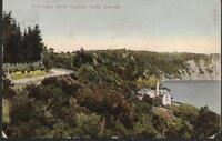 Mount Gambier, South Australia - Blue Lake - postcard, stamp, 1907 pmk