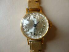 Ancienne  montre femme mécanique plaqué or YONGER  BRESSON  bracelet à fermoir
