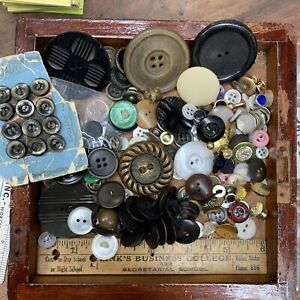 loose button lot, sewing, more, men's items, free shipping - Sn.35